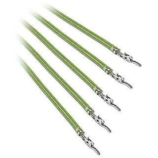 BitFenix BFX-ALC-20CMLN-RP Alchemy 2.0 PSU Cable, 5X 20cm, Nvidia Green