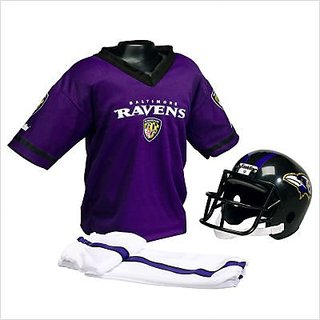 Franklin Sports 6604F17P3S Small NFL Ravens Helmet / Uniform Set