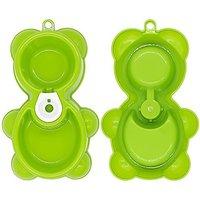 Pet Food Bowls,Linka Pet Bowl,Dog Bowl,Bear-shaped Water Drinking And Food Feeder Fountain Bear Double Bowl