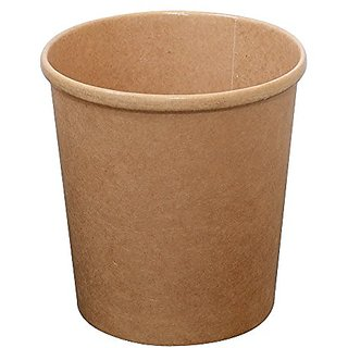 PacknWood Round Kraft Soup Container Bucket, 16 oz. (Case of 500)