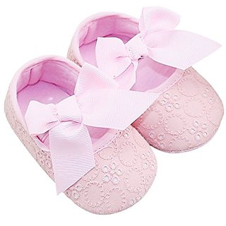 Novolix Cute Toddler Baby Girl Thin Shoes Cotton Bowknot Casual Shoes Princess Prewalker Soft Sole Sandals