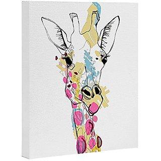 DENY Designs Casey Rogers Giraffe Color Art Canvas, 16