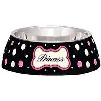 Loving Pets Princess Polka Dot Milano Bowl For Dogs And Cats, Small