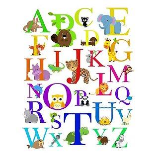 MyLullabug Alphabet Animal Nursery Wall Art 8x10