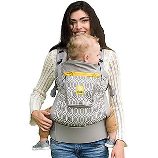 Lillebaby 4 In 1 ESSENTIALS Baby Carrier - Grey W/ Eternity Knot