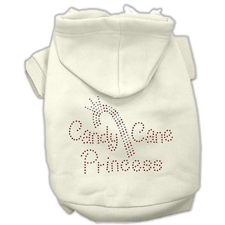 Mirage Pet Products 20-Inch Candy Cane Princess Hoodies, 3X-Large, Cream