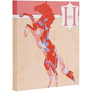 DENY Designs Jennifer Hill Miss Horse Art Canvas, 8