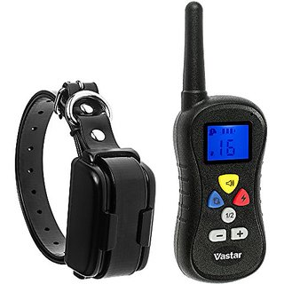Vastar Premium Rechargeable Remote Control Dog Training Shock Collar with Safe Beep, Vibration and Shock Electronic Elec