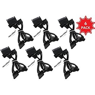 Aleratec SATA Power Cable 1:4 Splitter 1.3 Feet 6-Pack