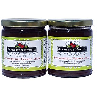 Jennifers Kitchen Strawberry Pepper Jelly (Pack of Two)