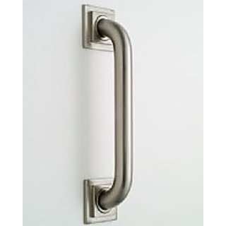 Jaclo 2736-PN Grab Bar with Contemporary Square/Diamond Flange, Polished Nickel, 36