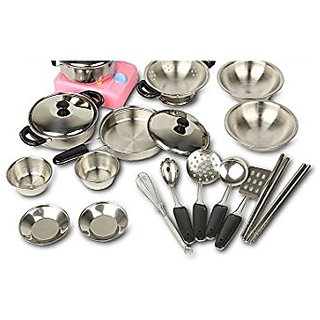 Buy Magikon 17 Piece Stainless Steel Pots And Pans Set Pretend
