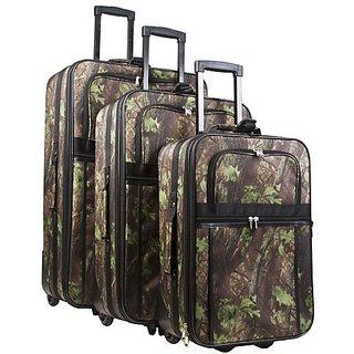 World Traveler Natural Camo 3 Piece Expandable Luggage Set
