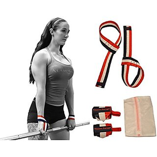 OFG Wrist Support Wraps Pulling Straps Laundry Bag Bundle For Ergonomic Heavy Lifting Simple Hook Thumb Loop Design for