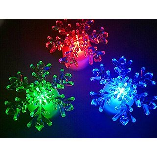 DE-Spark 10 Pack Acrylic LED Color Changing Night Lights Creative Art Deco Lamps (Snow Flower)