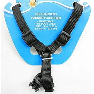 Dog Travel Safety Harness (Black, Medium 14-20 Inches)