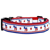 MiragePet Political Nylon Democrat Pet Dog Training Collar Large