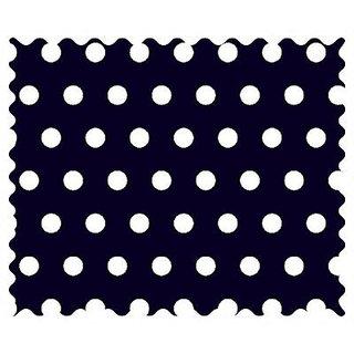 SheetWorld Polka Dots Navy Fabric - By The Yard