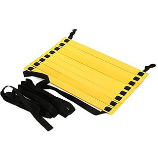 Gleenfit 8 Rung 13 foot Agility Ladders Speed Training Ladder for Soccer Football with Carry Bag Black