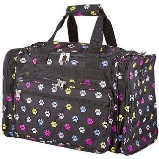 World Traveler Multi Paw Prints Duffle Bag 19-inch