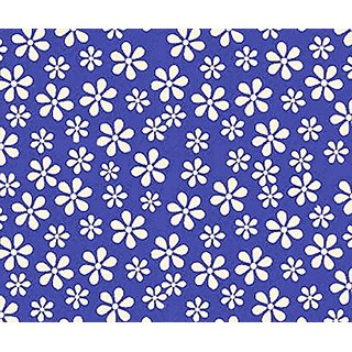 SheetWorld Fitted Pack N Play Sheet - Primary Royal Floral Woven - Made In USA