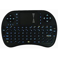 Backlit Wireless Keyboard, 2.4GHz Mini Illuminated Keyboard With Touchpad Mouse For Google Smart TV Android Box, XBMC, W