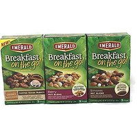 Emerald Breakfast On The Go Snack Bar Bundle- Smores, Berry Nut Blend And Caramel Macchiato (3 Boxes, 1 Of Each Flavor.