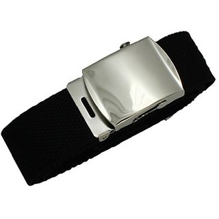 Marshal Leather 1 1/2 Inch Cotton Web Adjustable Money Belt, Black