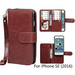 iPhone SE / iPhone 5 5S Wallet Case, xhorizon TM FLK Premium Leather Magnetic Detachable Folio Phone Wallet Case with Mu