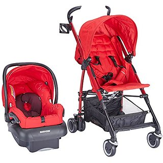 Maxi Cosi Kaia and Mico NXT Travel System, Intense Red