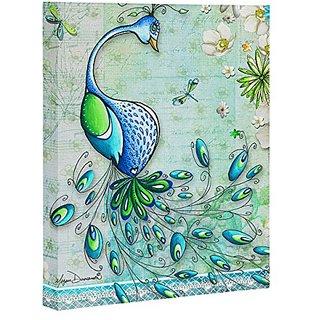 DENY Designs Madart Peacock Princess Art Canvas, 16