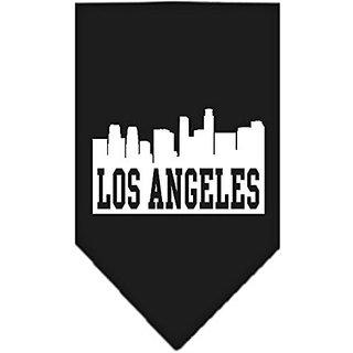 Mirage Pet Products Los Angeles Skyline Screen Print Bandana, Small, Black
