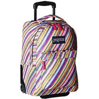 Jansport Wheeled Superbreak Rolling Backpack - fuchsia/multi, one size