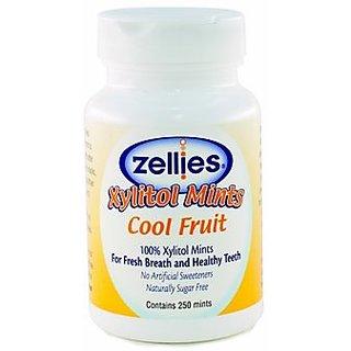 Zellies Cool Fruit Mints, 250 Count Jar