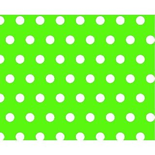 SheetWorld Fitted Cradle Sheet - Polka Dots Lime - Made In USA