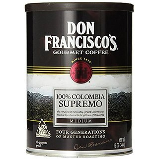 Don Franciscos, Colombia Supremo Ground Coffee, 12oz Can (Pack of 3)