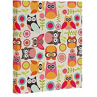 DENY Designs Valentina Ramos Cute Little Owls Art Canvas, 16