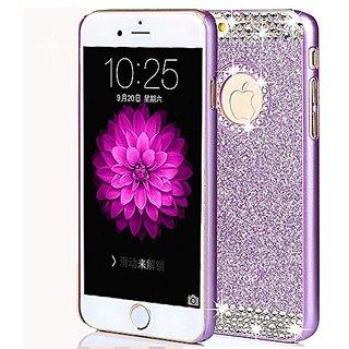 iPhone 6/6s Case,ARSUE (TM) Luxury Hybrid Beauty Crystal Rhinestone With Gold Sparkle Glitter PC Hard Protective Diamond