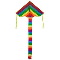 Easy-To-Fly Rainbow Kite With Red Handle And String