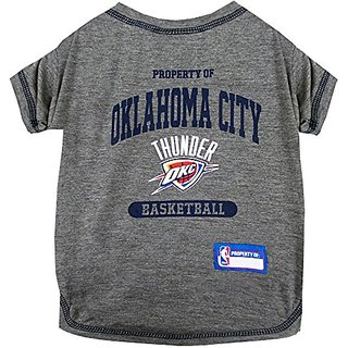 Pets First NBA Oklahoma City Thunder Pet Tee Shirt, Medium
