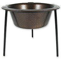 Platinum Pets 4-Cup Single Saucer Feeder With Wide Rimmed Bowl, Copper Vein