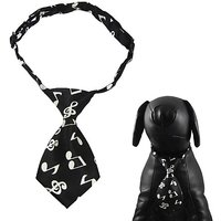 "Alfie Pet By Petoga Couture - Qun Formal Dog Tie And Adjustable Collar - Color: Black, Size: 10.5"" - 17"" For Dogs And Ca"