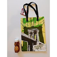 Trader Joes Clover Blossom Honey 12 Oz And NY Style Reusable Shopping Bag