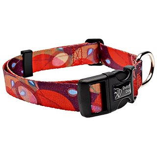 Dutch Dog Amsterdam Fashion Dog Collar, 15 to 20-Inch, Ruby Harvest