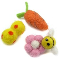 Alfie Pet By Petoga Couture - Pamela Hair Clip Set For Dogs, Cats And Small Animals - Color: Yellow Ball Pink Bee