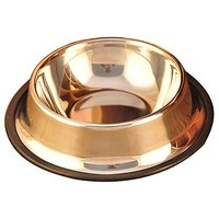 Quno Cute Lovely Stainless Steel Dog Cat Pet Food Water Bowls With Non Slip Rubber Base S Size Original Color