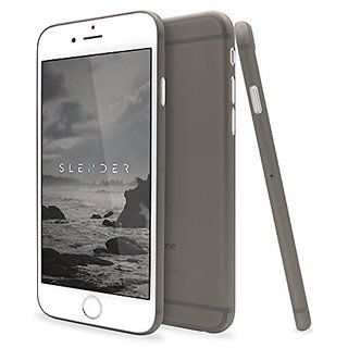 Ultra Thin iPhone 6S, 6 Phone Case With Clear Flexible Shell, Camera Protection & 360 Degree Side Coverage (Smoky Matte
