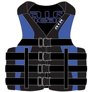 Kwik Tek Neoprene/Nylon Vest (Large/X-Large, Blue/Black)