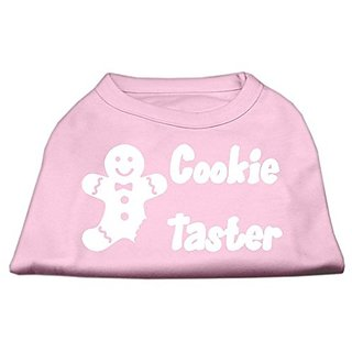 Mirage Pet Products 10-Inch Cookie Taster Screen Print Shirts for Pets, Small, Light Pink