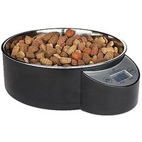 EYENIMAL Intelligent Pet Bowl; Electronic Scale With Built In Pet Water/Food Removable Stainless Steel Bowl (Black, 1 Li